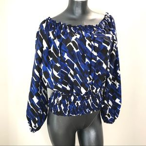 Michael Kors silk abstract patterned blouse